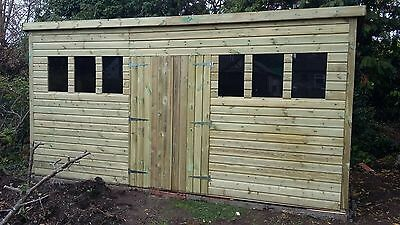 16 x 10 19mm Tanalised pressure treated T&G Pent Shed workshop