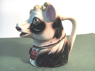 Vintage Black And White Cow Creamer – Japan