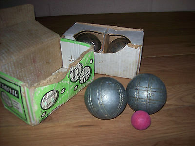 Two Vintage French Boxed Sets Boules and Jack