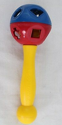 Tupperware Shape-O-Sort Ball Hand Held Baby Rattle Tupper Toy