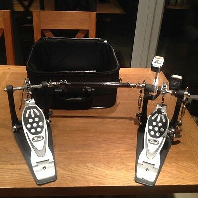 pearl twin pedal complete with carry case.