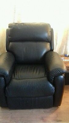 Electric Rise and Recline Black Leather Chair