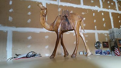 Unique Large Wood Camel Carving