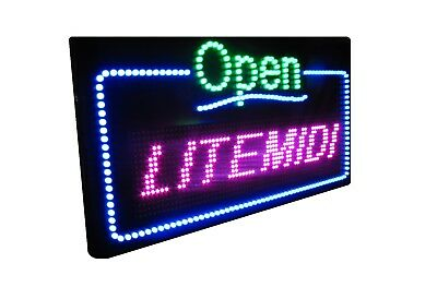 LED Sign Display Programmable Scrolling three-Color with Wi-Fi INDOOR & OUTDOOR