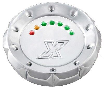 Xtreme Machine Chrome V-Cut LED Fuel Gauge 96-UP Screw in Vented 395179