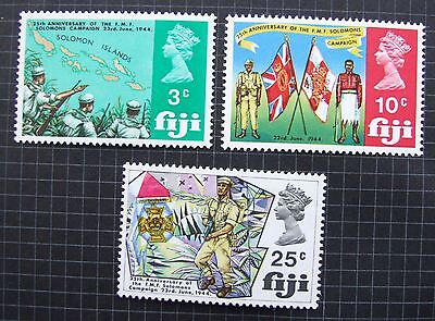 Fiji 1969 Sg 408-410 25Th Anniv Of Military Forces Mnh