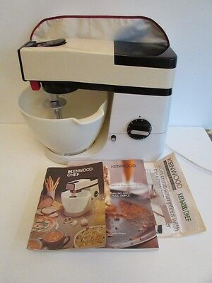 KENWOOD CHEF VINTAGE FOOD MIXER A901 with books & cover