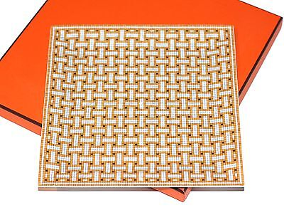 Authentic HERMES Square Plate No 4 Sushi Mosaique au 24 Ceramic NEW Boxed!