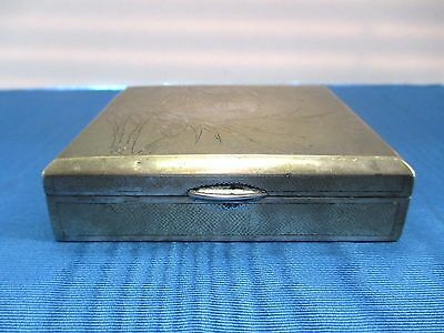 Vintage Hand Made Solid Silver Chinese Box w/ Engraved Surface of Bamboo Design.