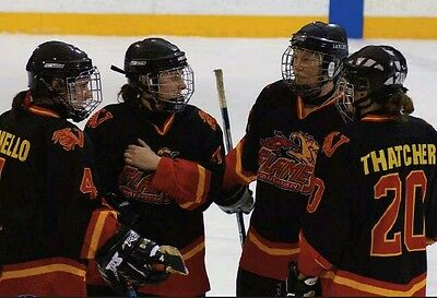 Vaughan Flames Game worn Women's Jersey OWHA Calagary Flames