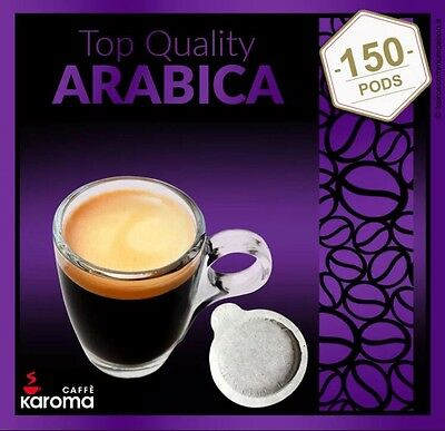 150 Italian ESPRESSO PODS! ESE Easy Serve Pods! Karoma 100% Top Quality Arabica!
