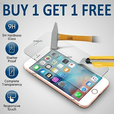100% Genuine Tempered Glass Film Screen Protector For Apple Iphone 6S Plus - New