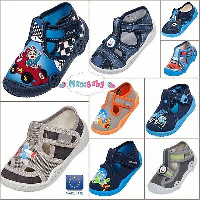 Spring Summer Infant Shoes Slippers for Boys Kids Canvas Leather Insole Size 3–7