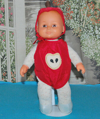"""Vintage 1984 Fisher Price 243 Care Cherry Blinking Molded Hair15""""  Baby Doll HTF"""