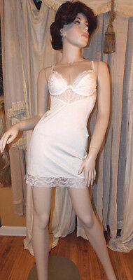 Vintage Full Slip in Nylon and Spandex Support w Underwire by Berlei Sz 34 B
