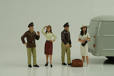 Remembering Pearl Harbor Set 4 Figurines 1:18 AMERICAN DIORAMA