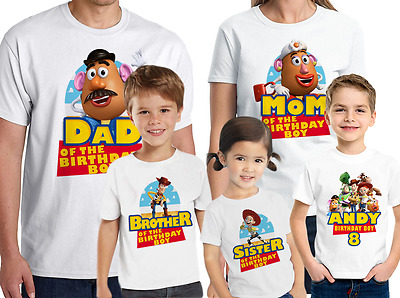 Toy Story Birthday Shirt Custom Name and Age Personalized Toy Story Family Shirt