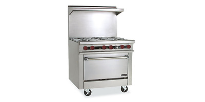 "Therma-Tek TMDS36-6-1 Gas Restaurant Range 6 Burner 36"" - MADE IN THE USA!!!!!"