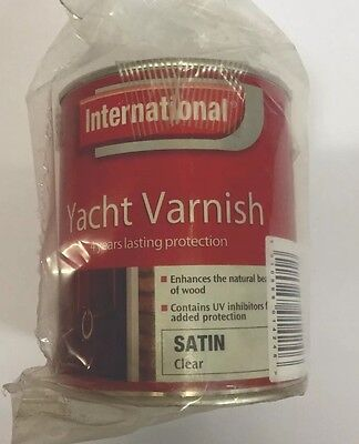 International Yacht Varnish Satin Clear 750ml Diy