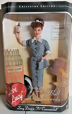 NRFB Barbie As Lucille Ball Lucy Ricardo I Love Lucy  Lucy Does a TV Commercial