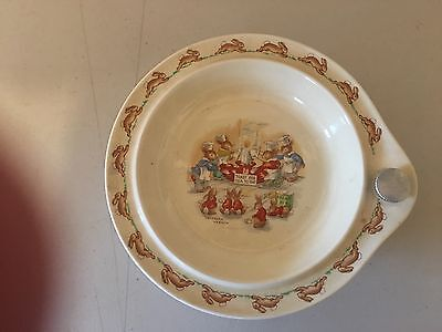 Royal Doulton Bunnykins Child's Water Warmer Food Plate (Year; 1954)