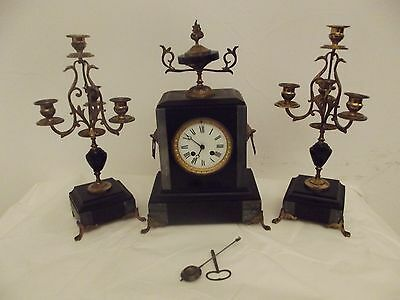 ornement fireplace chimney antique french clock chandelier candlestick napoléon