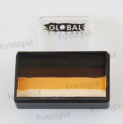 Global Colours 30g new SAHARA Fun Stroke Rainbow, Professional Face Paint Party