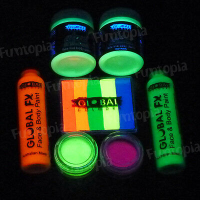 Funtopia's Global Glow Kit - Neon Face Painting UV Light Glow in the dark party