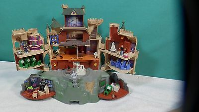 2001 Polly Pocket Harry Potter Hogwarts Castle Sound Motion + 4 Figurines