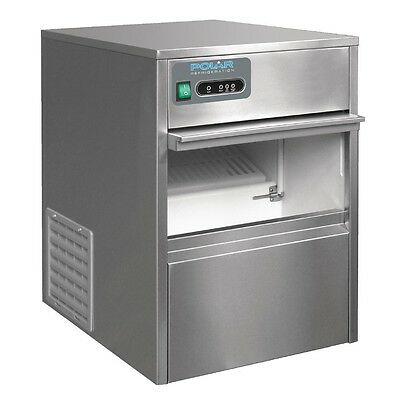 POLAR Under Counter Bullet Ice Maker Commercial StainlessSteel 20kgoutput T316-A
