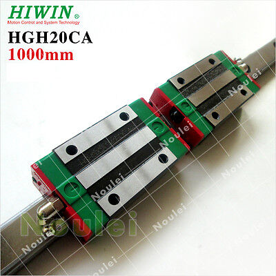 HIWIN 20mm Linear Guide Rail HGR20 L-1000mm With 2pcs Blocks For CNC Machine