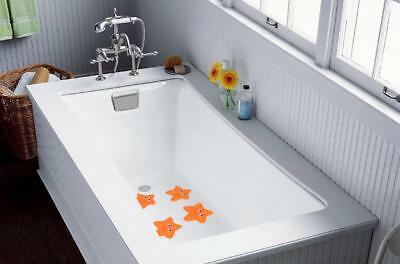 5Pcs Tub Treads Non Slip Bath Tub Safety Sticker Applique Starfish Orange