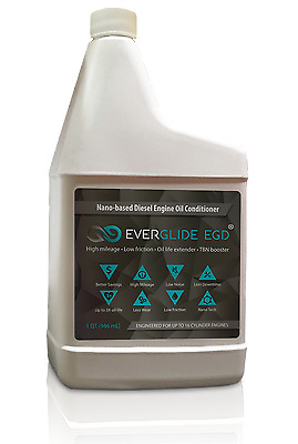 Everglide EGD Nano Diesel Oil Treatment. TBN & MPG Booster. Oil Change Extender.