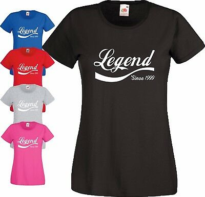 18th Birthday Gift T Shirt Legend Since 1999 Teen Made In 1999 Year Ladies Top