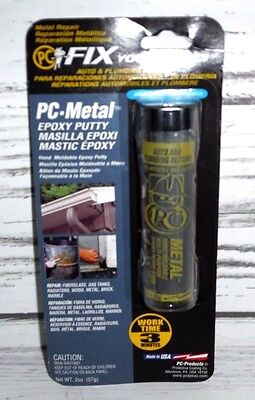 2 PC Products PC-Metal Moldable Epoxy Putty 2 oz. Sticks Metal Repair