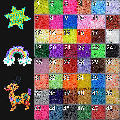 500/1000 PCS 2.6MM PP HAMA / PERLER BEADS for GREAT Kids Great Fun 50 colors A