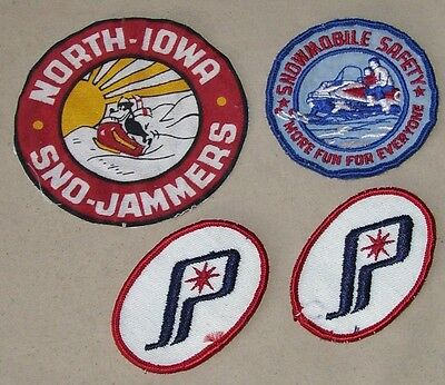 "4 Snowmobile Patches  3"" POLARIS    NORTH IOWA SNO-JAMMERS    SAFETY"