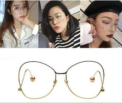 Vintage Classic Fashion Pilot Aviator Sunglasses Clear Lens Glasses Geek Frame