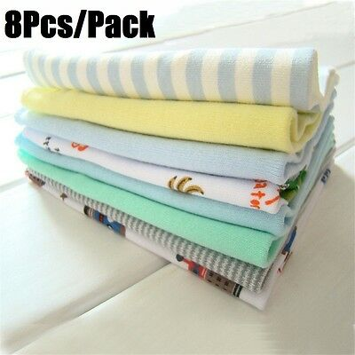 8Pcs/Pack 100% Cotton Newborn Baby Towels For Boys Washcloth Handkerchief