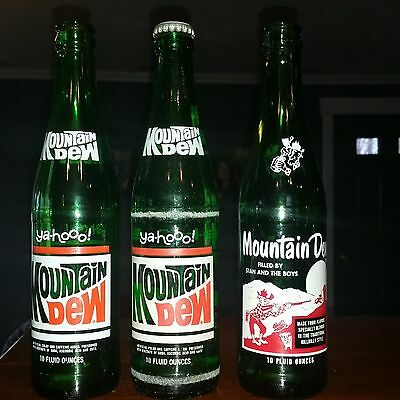 VINTAGE  mountain dew bottles STAN AND THE BOYS