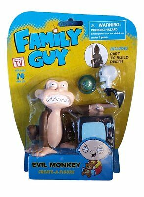 New Family Guy Cartoon Evil Monkey Create-A-Figure Includes Parts to build Death