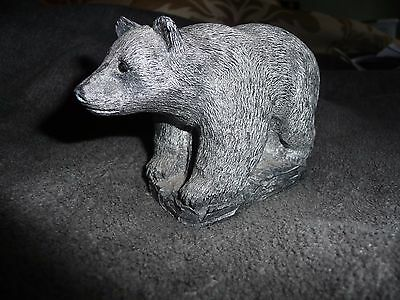 Black Bear Soap Stone Wolf Original Sculpture Statue Figurine Made in Canada