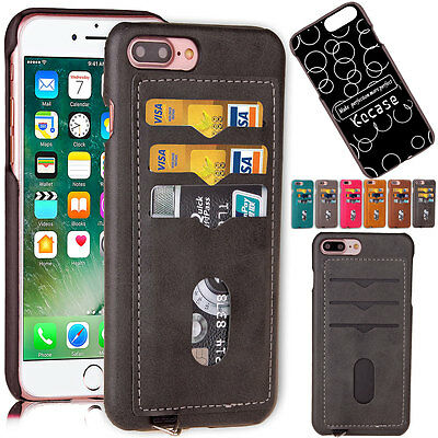 Wallet Leather Credit Card Holder Shockproof Thin Case Cover For iPhone 7 Plus