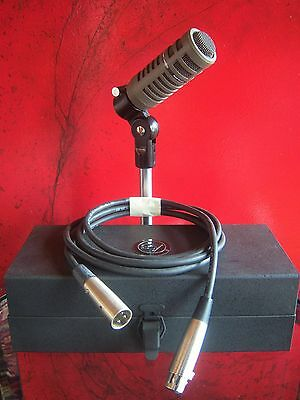 Vintage RARE 1970's Electro Voice PL10 dynamic cardioid microphone w accessories