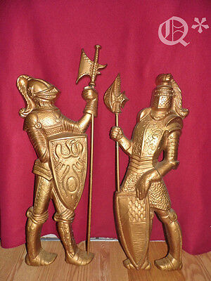 """2 Metal medieval KNIGHTS Gothic31"""" Made In Japan"""