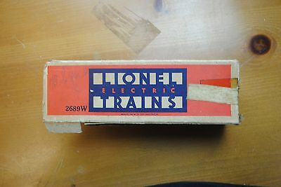 Lionel 2689W Tender Box Only