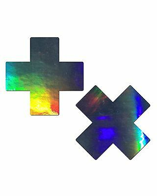 Pastease Rave Pasties Hologram Cross