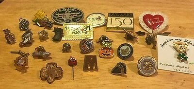 Lot of 28 - Miscellaneous pins - some have markings - Not a junk lot