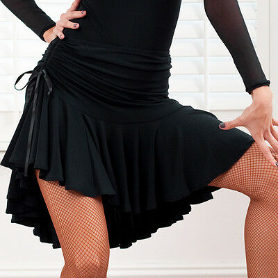 NEW Latin salsa tango rumba Cha cha Ballroom Dance Dress #S8101 skirt Black