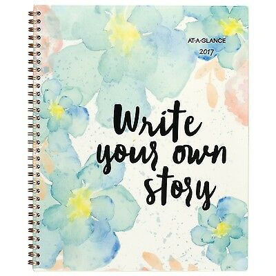 """AT-A-GLANCE Weekly / Monthly Planner / Appointment Book 2017 8-1/2 x 11"""" B-Po..."""